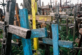 Colored wood crosses