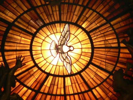 HS dove stainglass
