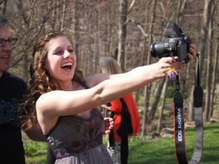 Maddy prom selfie