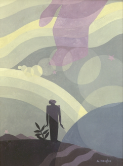 "The Creation by Aaron Douglas 1935, oil on masonite, 48 x 36"", Howard University Gallery of Art, Washington, D.C."