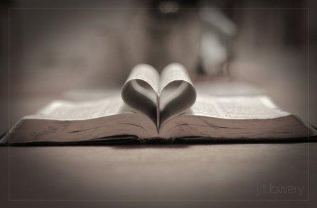 L Bible w heart