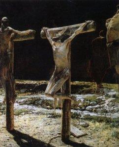 Crucifixion By Nikolai Ge